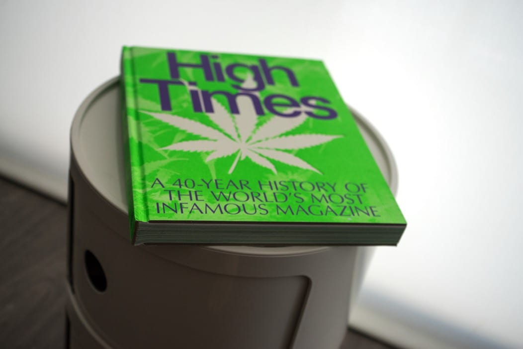High times book on a shelf