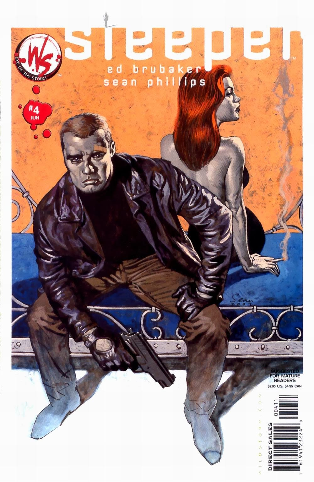 Sleeper comic book cover with a man holding a gun