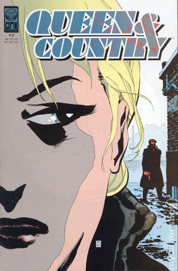 Queen & country comic book cover with a blonde women's face