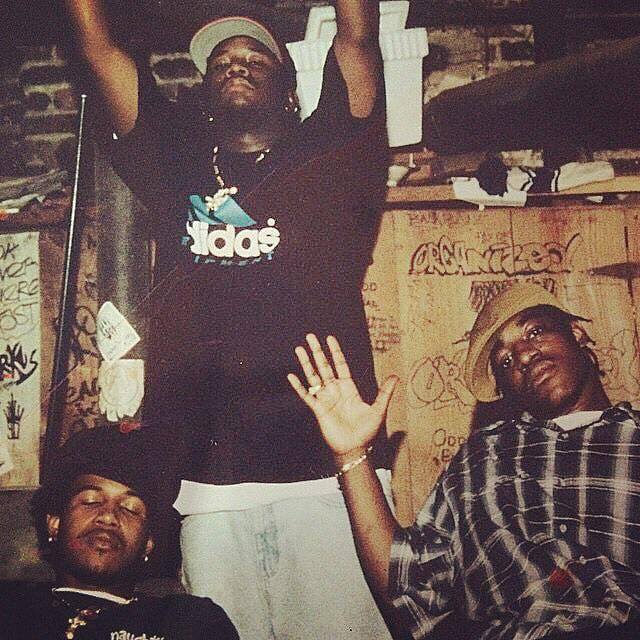 Outkast hanging out in the dungeon studio