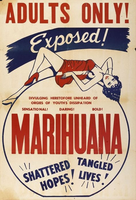 exposed anti weed poster